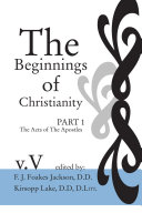 download ebook the beginnings of christianity: the acts of the apostles pdf epub