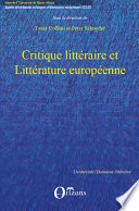 Critique littéraire et Littérature européenne