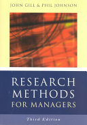 Research Methods for Managers They Need When Undertaking Their Proejct Work