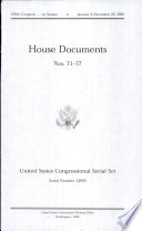 United States Congressional Serial Set  Serial No  14976  House Documents Nos  71 77