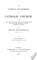 The Evidences and Doctrines of the Catholic Church     Second Edition