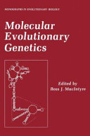 Molecular Evolutionary Genetics book