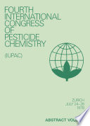 Advances in Pesticide Science