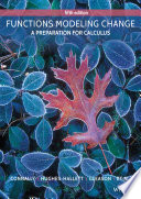 Functions Modeling Change  A Preparation for Calculus  5th Edition