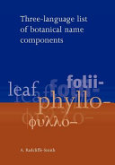 Three language List of Botanical Name Components