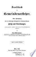 Handbuch für Gemeindevorsteher. 2. Aufl