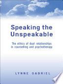 Speaking the Unspeakable