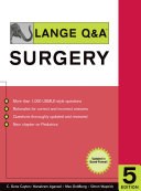 Lange Q A Surgery  Fifth Edition