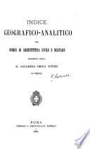 Indice geografico analitico dei disegni di architettura civile e militare esistenti