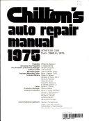 Chilton's auto repair manual, 1975