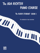 Ada Richter Piano Course   The Older Student  Book 1