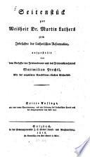 Seitenstück zur Weisheit Dr. Martin Luthers