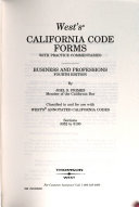 West s California Code Forms   Business and Professions