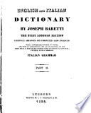 Dizionario Italiano Ed Inglese Di Giuseppe Baretti