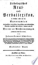 Lithologisches Real  und Verballexicon