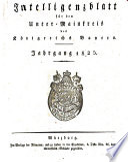 Intelligenzblatt für den Unter-Mainkreis des Königreichs Bayern