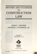 Bruner and O Connor on construction law
