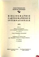 Bibliographie cartographique internationale