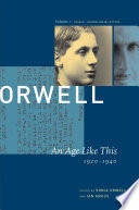 George Orwell  An age like this  1920 1940