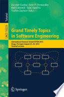 Grand Timely Topics In Software Engineering