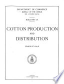 American Cotton Supply and Its Distribution