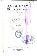 Imaginary Interviews