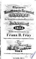 Jg. [1].1834 u.d.T.: Allgemeiner Handlungs-Almanach für den oesterreichischen Kaiserstaat