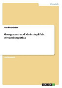 Management  und Marketing Ethik  Verhandlungsethik