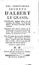 Book Les admirables secrets d'Albert le Grand