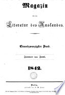 Magazin f  r die Literatur des Auslandes  ed  by J  Lehmann