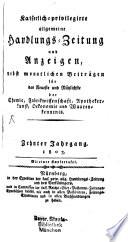 Kaiserlich privilegirte allgemeine Handlungs Zeitung und Anzeigen