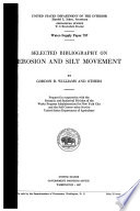 Selected Bibliography on Erosion and Silt Movement