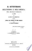 Il settentrione dell Europa e dell America nel secolo passato sin 1789
