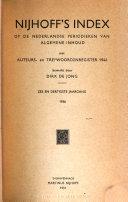 Nijhoff's index op Nederlandse en Vlaamse periodieken