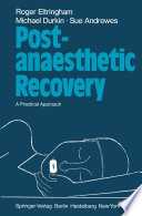 Post Anaesthetic Recovery