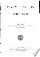 Mary Burton Abroad