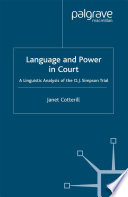 Language and Power in Court