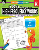 180 Days of High frequency Words for Kindergarten