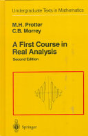A First Course in Real Analysis Of A First Course In