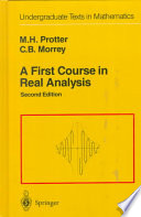 A First Course in Real Analysis Of A First Course In Real Analysis