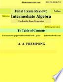Final Exam Review  Intermediate Algebra