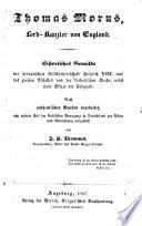 Thomas Morus, Lord-Kanzler von England