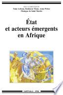 Etat et acteurs émergents en Afrique