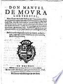 Don Manvel de Movra cortereyal [...], stadthouder general van het gouuernement van de Nederlanden en[de] van Burgondien, &c. Redres van het reglement op het wt-loopen, passagien, ende logeringe van de soldaeten ten platten lande, betaelende contributie