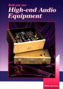 Build Your Own High-end Audio Equipment