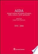 Aida  Annali italiani del diritto d autore  della cultura e dello spettacolo  2008