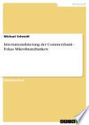 Internationalisierung der Commerzbank - Fokus Mikrofinanzbanken