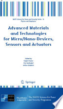 Advanced Materials and Technologies for Micro Nano Devices  Sensors and Actuators