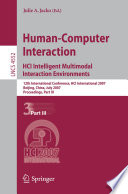 Human Computer Interaction  HCI Intelligent Multimodal Interaction Environments