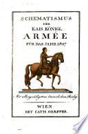 Schematismus der Kais. Königl. Armée
